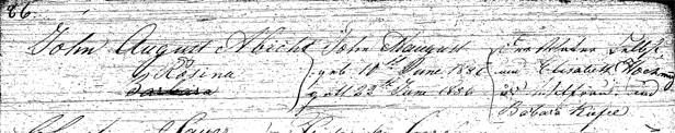 August Abbott, Jr Baptism Record