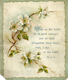 Psalm 23, Front