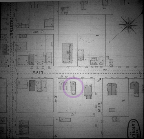 Christian and Magdalena Abbott House, Sanborn Map, 1896