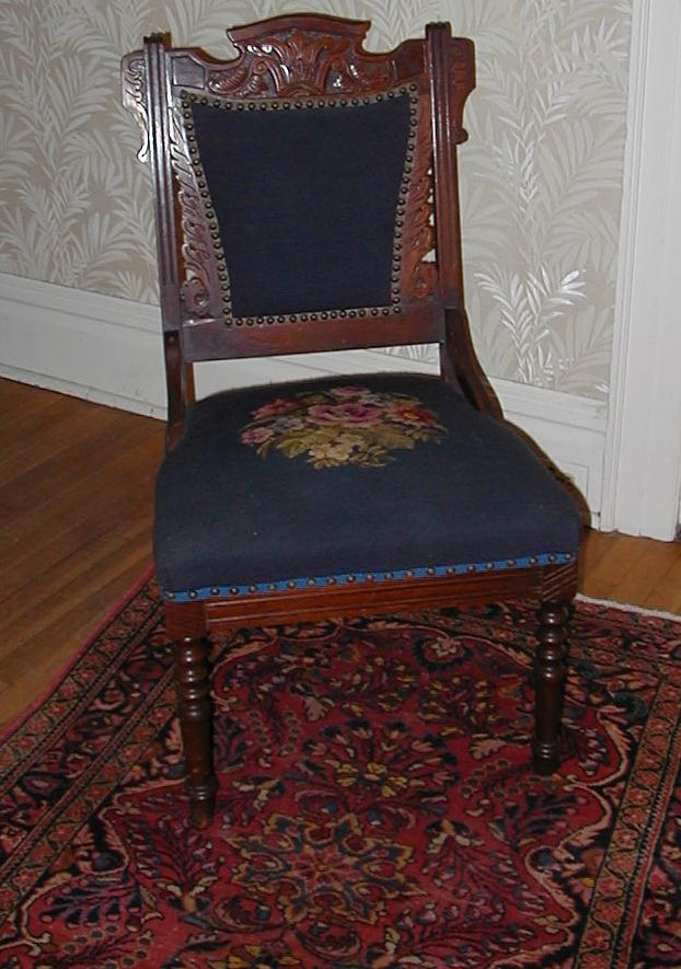 Elizabeth Jacob Abbott Needlepoint Chair