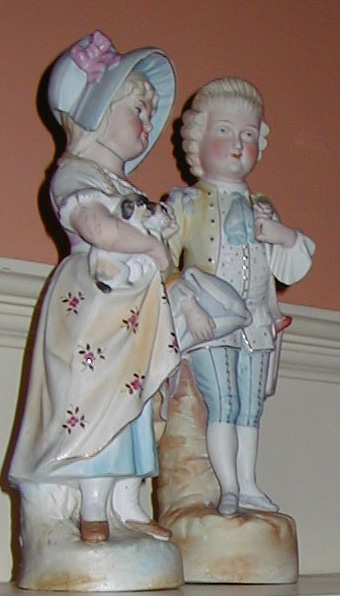 Edward and Elizabeth Jacob Abbott's Bisque Figurines, Another View