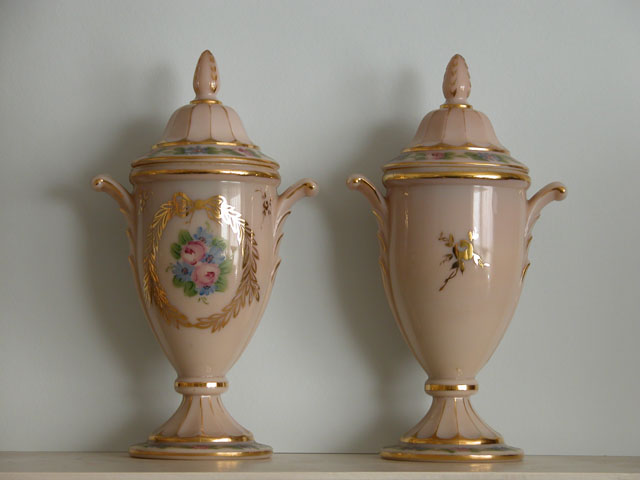 Edward and Elizabeth Jacob Abbott's Urns
