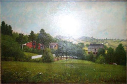 Oil Painting of John Frew house in summer