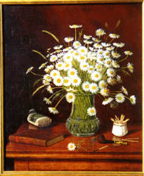 Oil Painting of daisies