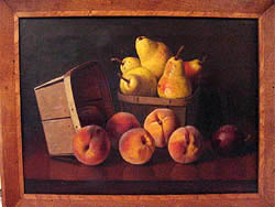 Oil Painting of pears and peaches