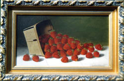 Oil Painting of strawberries